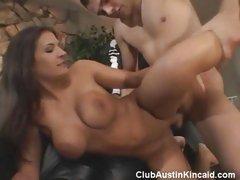 Busty babe Austin Kincaid enjoys getting banged hard