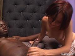 Teen Maggie Star having a horny interracial oral sex