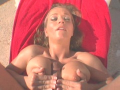 Scorching babe Rita Faltoyano opens her mouth and gets cummed