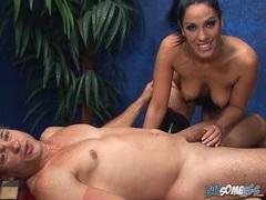 Horny babe Veronica Rayne eagerly takes a long dick in her juicy mouth
