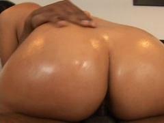 Bubble butt Rosario Stone riding a massive black ramrod