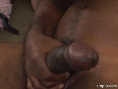 Horny Stacy Thorn swallowing huge thick hard black meatpole
