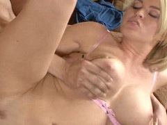Blonde hottie Krissy Lynn gets the perfect fuck she craves for on the couch
