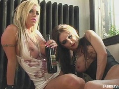 Busty babes Jessica Jaymes and friend having a hardcore lesbian sex