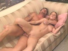 Lovely Gen Padova gets her juicy lips cummed after a nice good fuck