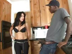 Kendra Secerts In The Kitchen Eating A Fat Black Cock For Lunch