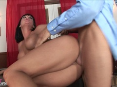 Alluring whore Tory Lane getting banged hard and deep on her pussy