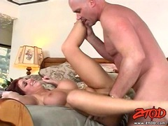 Sexy babe Eve Lawrence gets her pussy thumped by a rock hard cock