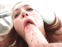 Cock Muncher Kimberly Kane Devours This Thick Cock Down To The Balls