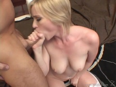 Naomi Cruise gets fucked hard then takes a cock down her throat