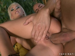 sexy whore Blue Angel gets her tight ass plugged with a meaty hard cock