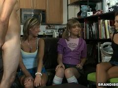 Brandi Belle controling how good her friends suck
