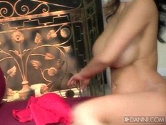 Lusty hot Priya Rai spreads her shaved twat wide enough to tease