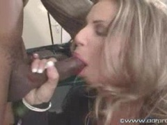 Blonde whore Francesca Felluci fits a long meaty cock in her sweet mouth