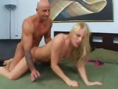 Roughly fucked from behind Aurora Snow squirts all over bed