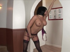 Slutty bitch Tory Lane can't wait any longer to play dirty alone with her pussy