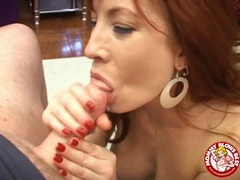 Sexy hot matured Brittany Oconnell receives a sticky load of jizz on her tongue