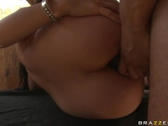 Booty hot Luscious Lopez getting whacked on the ass along with girlfriend Katja