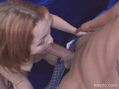 Sexy Cherry Poppens getting on with her lesbian friend and sucks cock