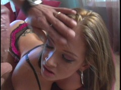 Cock loving whore Tory Lane whacks her mouth out with a an awesme cock