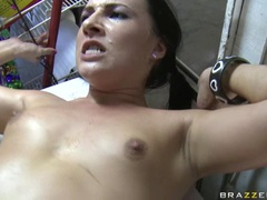 Cute sweetheart Ashli Orion receives a rich load of cock spurt on her face