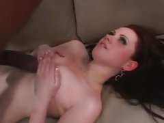 Black cock lover Sindee Jennings takes a hard pounding and jizz blast to face