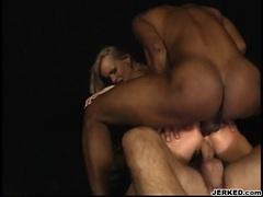 Cum lover Dora Venter receives a warm drip of cum on her sweet mouth