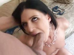 Exotic beauty India Summers knows how to service a throbbing cock with her mouth