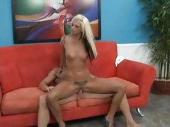 Lacy Holiday climbs on to a stiff cock and rides like cowgirl