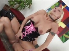Chloe Dior opens her legs and takes a huge cock bashing