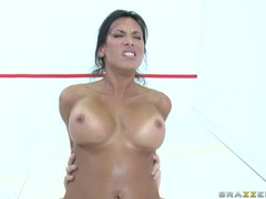 Lezley Zen Rides that cock then gets fucked with feet over her head