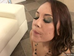 Brunette momma Kristina Rose received a hot spurt of cum after a hot fuck