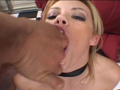 Gia Paloma guzzling on 3 sticky cumloads which she swallows