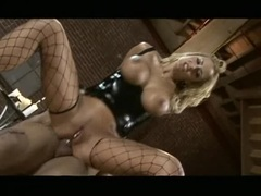 Trina Michaels has her sexy ass pounded with cock before getting facial