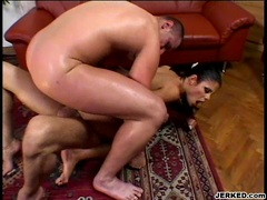 Whore Veronica Rayne receives a glaze of cock sauce on her mouth