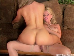 Lesbian hottie Victoria Zdrok licking on Vega's shaved snatch and loves it