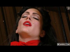 Sexy hot Jessica Jaymes getting horny with herself alone in the corner