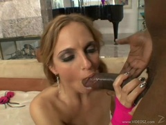 Lexi Love takes a big black dick deep in her tight ass and jizz on her face