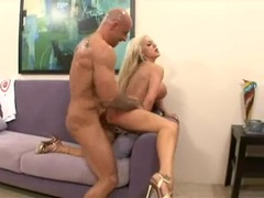 Savannah Gold bent over and rammed with cock over and over