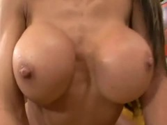 Hunter Bryce fucked and gets her jucy tits splashed with man batter
