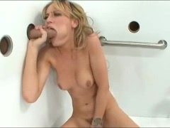 Masturbating honey Holly Wellin diddles her twat while blowing hard cock