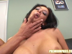 Sexy hottie Tory Lane getting crazy over an awesome cock entering her mouth