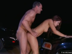 Flexi hot latina Ann Marie stretches her slits apart for an awesome wild bang