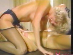 Pornstar Nina Hartley eating muff in hot lesbian 69 action
