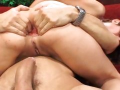 Dirty Amber Rayne gets her ass abused with fat cock and mouthful of jizz