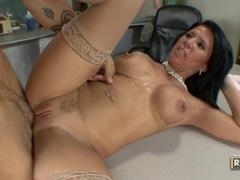 MAtured pornstar Kendra Secrets opens her mouth for a steamy hot cum blast