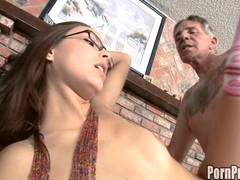 Juicy bitch Danni Cole gets cummed on the face after a hot wild fuck