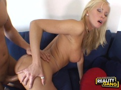 Sexy white chick Alexa Weix gets her smoothly shaved twat boned by a meaty dick