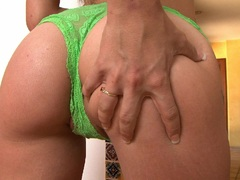 sex bombshell Amy Brooke gets too hot to handle stripping off for some solo fun