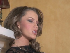 Horny porn babe Jenna Presley pops her boobies out and teases everyone